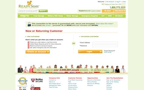Screenshot of Login Page thereadystore.com - Customer Login - captured Sept. 23, 2014