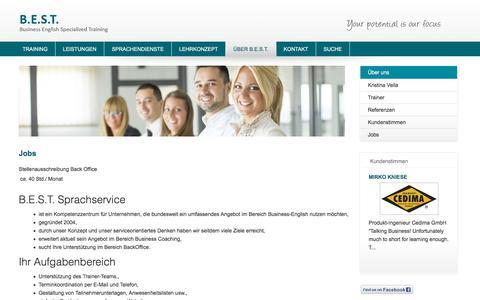 Screenshot of Jobs Page best-sprachservice.de - Jobs - captured July 19, 2018
