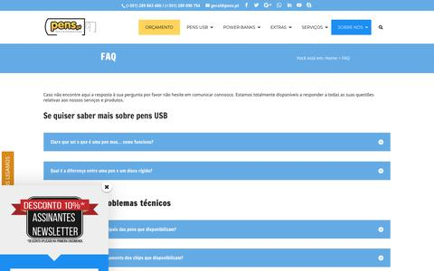 Screenshot of FAQ Page pens.pt - FAQ - Pens.pt - captured Sept. 27, 2018