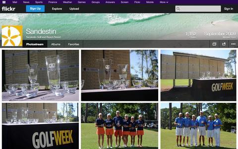 Screenshot of Flickr Page flickr.com - Flickr: Sandestin Golf and Beach Resort's Photostream - captured Oct. 23, 2014