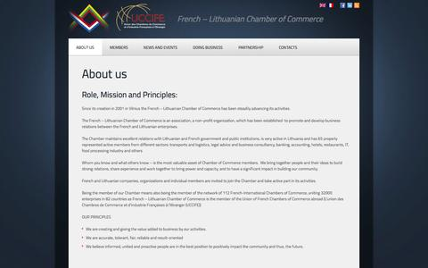 Screenshot of About Page cci-fr.lt - About us  |  French – Lithuanian Chamber of Commerce - captured Oct. 2, 2014