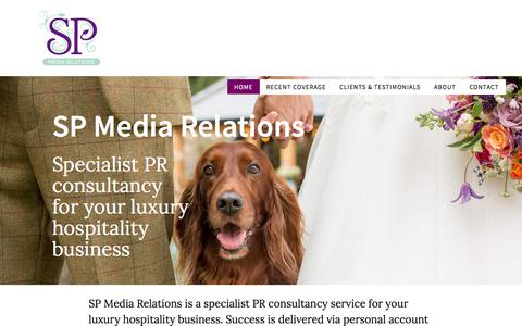 Screenshot of Home Page spmediarelations.co.uk - SP Media Relations — Just another WordPress site - captured July 26, 2018