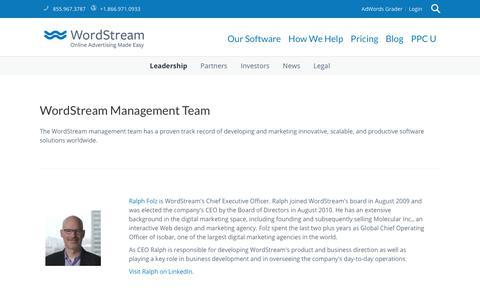 WordStream Leadership