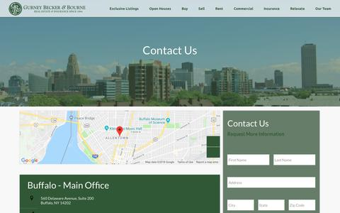Screenshot of Contact Page gurneyrealestate.com - Contact Us - Commercial & Residential Properties, East Aurora NY, Buffalo NY, Orchard Park NY | Gurney Becker & Bourne - captured Dec. 16, 2018