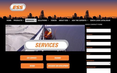 Screenshot of Services Page esseng.com.au - Engineering Services | Australia | ESS Engineering Services & Supplies | ESS Engineering - captured Sept. 26, 2018