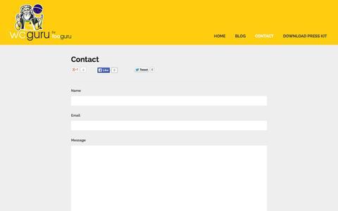 Screenshot of Contact Page fooguru.co.uk - Fooguru - Contact - captured Sept. 30, 2014