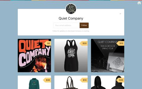 Screenshot of gumroad.com - Quiet Company on Gumroad - captured Aug. 17, 2016