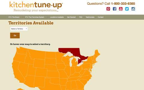 Screenshot of Locations Page ktufranchise.com - KTU Franchise - captured March 17, 2016