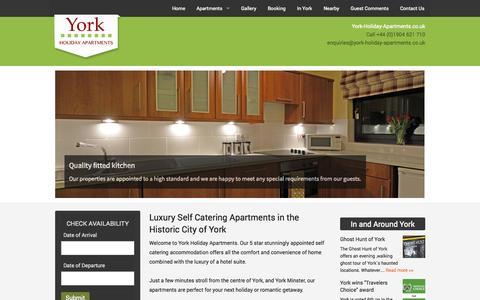 Screenshot of Home Page york-holiday-apartments.co.uk - York Holiday Apartments - Centre of York   York-Holiday-Apartments.co.uk - captured Sept. 30, 2014