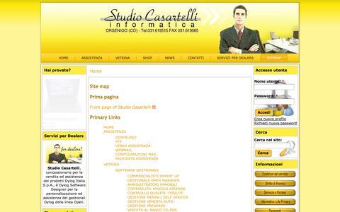 Screenshot of Site Map Page studiocasartelli.it - Site map   Studio Casartelli - captured Oct. 8, 2014