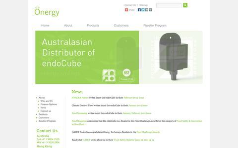 Screenshot of Press Page onergy.com.au - News | Endocube - captured Sept. 30, 2014