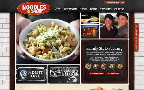 Screenshot of Home Page noodles.com - Welcome to Noodles & Company - captured Sept. 22, 2014