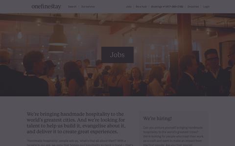 Screenshot of Jobs Page onefinestay.com - Jobs | onefinestay - captured Dec. 14, 2015