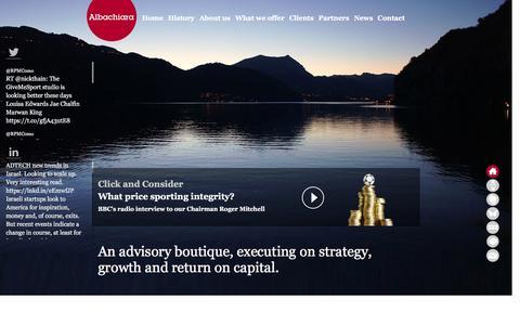 Screenshot of Home Page albachiara.net - Strategy, growth and return on capital - captured Feb. 5, 2016