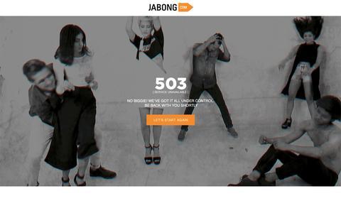Screenshot of Home Page jabong.com - Jabong.com - captured Oct. 4, 2019