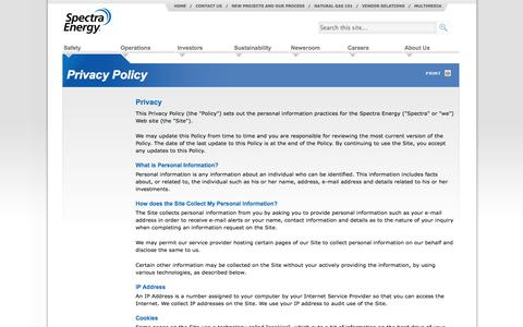 Privacy Policy - Spectra Energy