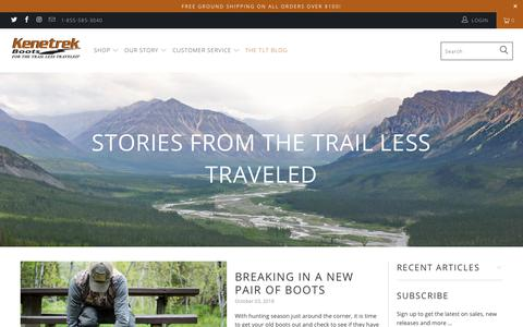 Screenshot of Press Page kenetrek.com - Stories from The Trail Less Traveled - Kenetrek Boots - captured Oct. 15, 2018