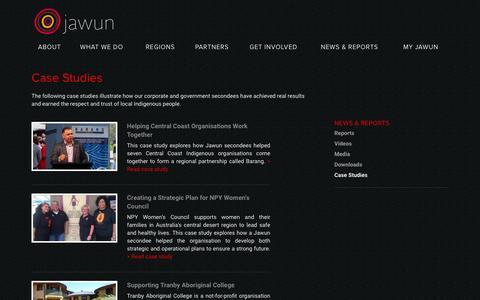 Screenshot of Case Studies Page jawun.org.au - Case Studies – Jawun - captured Feb. 11, 2016
