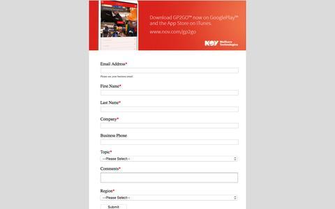 Screenshot of Landing Page nov.com captured Aug. 17, 2016