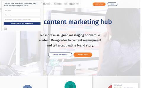 Screenshot of Home Page marketing.ai - Home | Marketing.AI - captured Nov. 19, 2016
