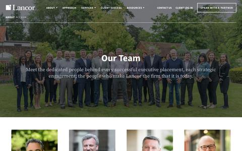 Screenshot of Team Page lancor.com - About the Partners Behind Every Successful Executive Search | Lancor - captured July 15, 2018