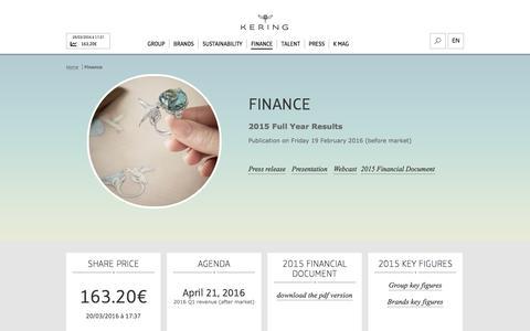 Finance | Kering