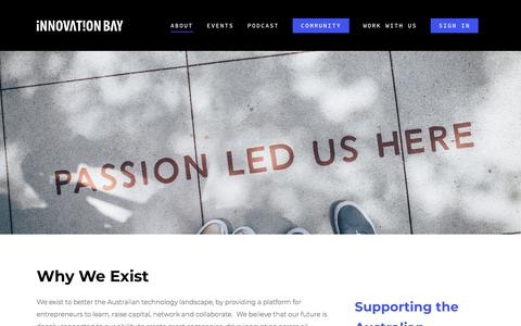 Screenshot of About Page innovationbay.com - About – Innovation Bay - captured Sept. 19, 2018