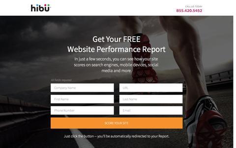 Screenshot of Landing Page hibu.com - Get Your FREE Website Performance Report | hibu - captured Sept. 17, 2016