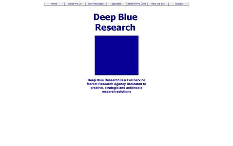 Screenshot of Home Page deepblueresearch.co.uk - Welcome to Deep Blue Research - captured Nov. 24, 2016