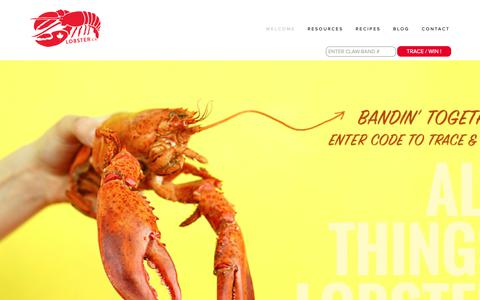 Screenshot of Home Page lobster.ca - LOBSTER.ca | Your Source For ALL Things Lobster - captured Nov. 9, 2018