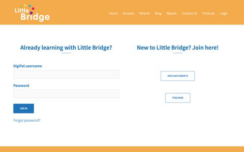 Screenshot of Signup Page littlebridge.com - Get started - Little Bridge - captured Nov. 11, 2018