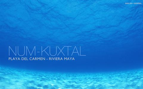 Screenshot of Home Page num-kuxtal.com - NUM-KUXTAL - Profitable real estate opportunity in the Riviera Maya - captured July 13, 2018