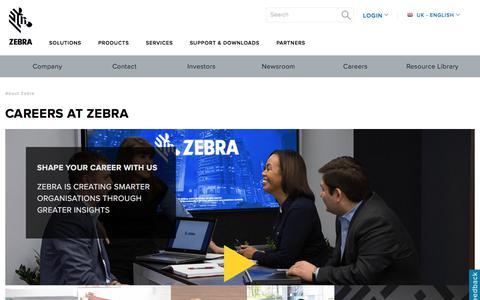 Screenshot of Jobs Page zebra.com - Zebra Technologies Careers - captured Aug. 1, 2017