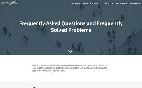Frequently Asked Questions (FAQs) – Personify