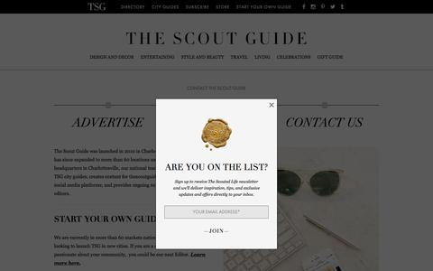 Screenshot of Jobs Page thescoutguide.com - Careers - The Scout Guide - captured Nov. 23, 2016