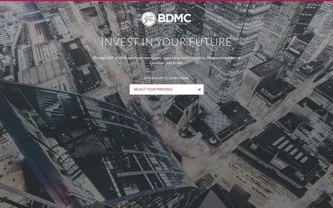 Screenshot of Developers Page bdmc.ca - Developers - BDMC - captured Feb. 9, 2016