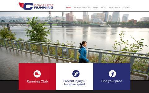 Screenshot of Home Page crpusa.com - HOME | CRPUSA - Complete Running - captured Oct. 2, 2014