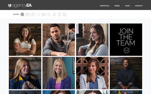 Screenshot of Team Page agencyea.com - Meet the agencyEA Team - captured Dec. 20, 2015