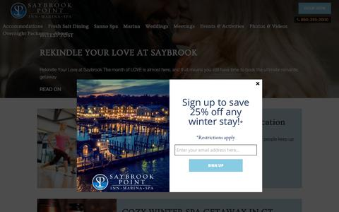 Screenshot of Blog saybrook.com - Saybrook Point Inn & Spa - Blog - captured Feb. 14, 2018