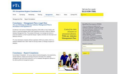 Screenshot of Team Page ptlhygiene.co.uk - Management of Asbestos   Asbestos management - PTL Hygiene   PTL Hygiene - captured Oct. 1, 2014