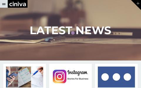 Screenshot of Blog cinivawebagency.com - Ciniva Web Agency Website Design and Marketing Blog - captured July 18, 2018