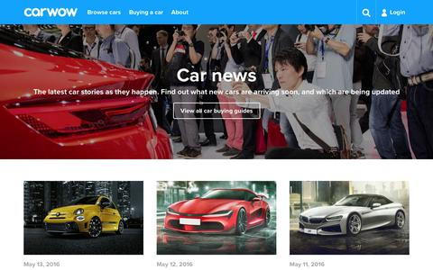 Screenshot of Press Page carwow.co.uk - Car news | carwow - captured May 15, 2016