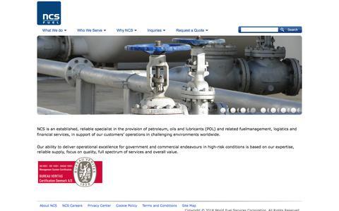 Screenshot of Home Page ncsfuel.com - NCS FUEL | ncsfuel.com - captured Sept. 21, 2018