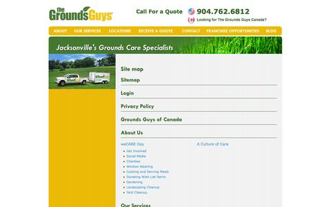 Screenshot of Site Map Page groundsguys.com - Site map | Jacksonville - captured Sept. 19, 2014