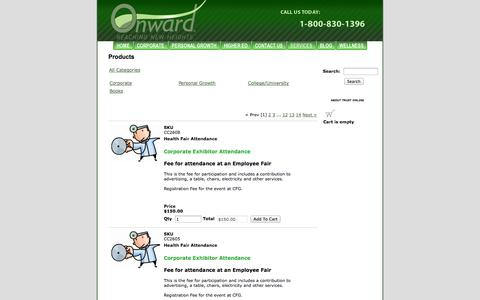 Screenshot of Services Page onwardeducation.com - Services - captured Oct. 7, 2014