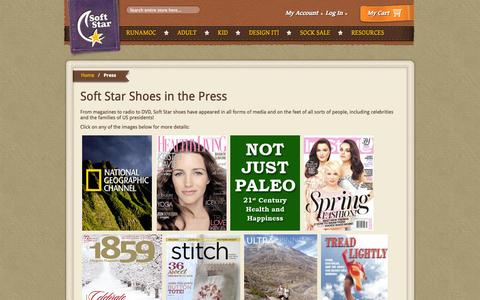 Screenshot of Press Page softstarshoes.com - Press | Soft Star Shoes - captured Sept. 19, 2014