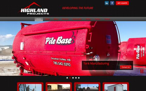 Screenshot of Home Page highlandprojects.com - Home - Highland Projects - captured Dec. 10, 2015