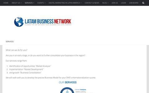 Screenshot of Services Page latambusinessnetwork.ch captured Dec. 5, 2015