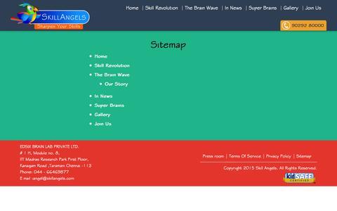 Screenshot of Site Map Page skillangels.com - Sitemap | Skill Angels - captured Nov. 18, 2015