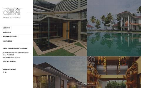 Screenshot of Home Page designcombine.com - Design Combine Architects & Designers   Cochin, Kerala - captured Nov. 24, 2016